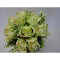 Buque Rosa Verde Bouquet Noiva Casamento Permanente