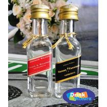 20 Mini Garrafinhas Personalizadas Whisky