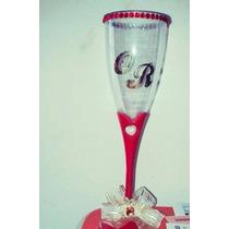 30 Pares Adesivos Iniciais Noivos P/taça Champagne Casamento