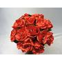 Buque Noiva Casamento Rosa Vermelha Permanente