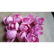10 Rosas Em Eva Para Aplique E Decoração 3 Cm De Diametro