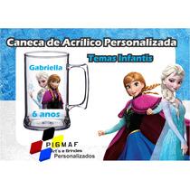 100 Canecas Acrílico Personalizada Frozen 300ml