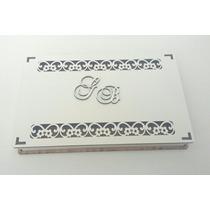 Caixa Convite Casamento Flores Mdf Branco Kit 10 Unidades