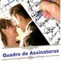 Quadro De Assinaturas Para Casamento Aniversario 15 Anos