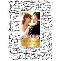 Quadro De Digitais Assinaturas Casamento Aniversario 15 Anos