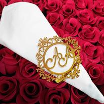 Argolas Porta Guardanapo Mdf Personalizado Casamento (unid)