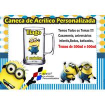 100 Canecas Acrílico Personalizada Minions 300ml
