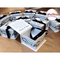 Caixa Convite Box, Com Foto - Padrinho De Casamento