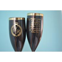 30 Taça Acrílica Com Borda Dourada Personalizadas