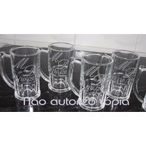Caneca Chopp Cerveja De Vidro Jateada 340ml Personalizada