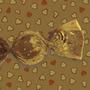 Papel De Trufa Coracoes Ouro Fosco - Pct C/ 100 Und