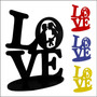 Palavra Love Noivos Mdf Pintado 6mm Enfeite Casamentos