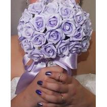 Buquê De Noiva Lilás - Artificial Eva