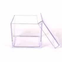 100caixinhas De Acrílico4x4 Transparente Pronta Entrega