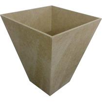 Kit 20 Cachepo-vaso-pote- Mdf Crú 13 X 13 X 15.