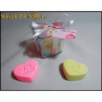 Kit Sabonete Artesanal Caixinha Coração 15 Anos- 10 Unidades