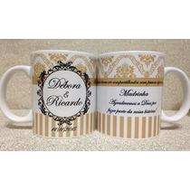 Caneca Personalizada Para Casamento+ Brinde Caixa Individual