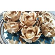 50 Forminhas De Flor Dourada