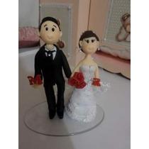 Noivinhos Personalizados Em Biscuit, Casamento, Noivado