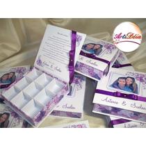 Caixa Convite Box, Com Foto - Padrinho De Casamento, 15 Anos