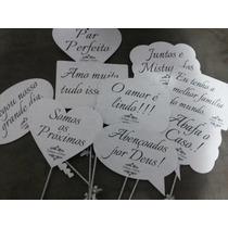 Plaquinhas Divertidas - 10 Unid - Casamento Evangélico