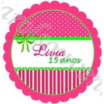 200 Adesivos P/ Latinhas 5 Cm - Lembrancinha Personalizada