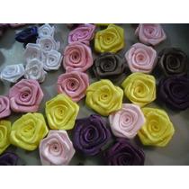 100rosa De Cetim Tamanho 3cm,rosinhas,flor,laços,lacinhos,