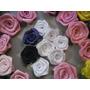 Rosa De Cetim Tamanho 2cm,rosinhas,flor,laços,lacinhos