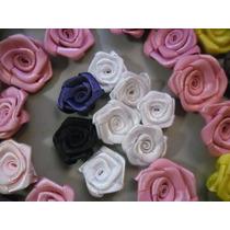 100rosa De Cetim Tamanho 2cm,rosinhas,flor,laços,lacinhos
