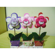 3 Lembrancinha Vasinho De Flor .preço Excelente