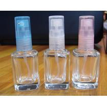 50 Frascos Vaporizadores De Perfume 10 Ml Vidro Quadrado