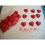 50 Miniaturas Coração Em Biscuit