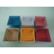 20 Caixas Com Visor De Acetato P/ 1 Docinho,bombons,trufas