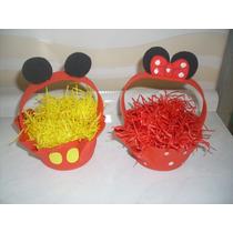 Cestinha Em Eva Mickey E Minnie