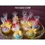 Lembrancinha Cup Cake Toalha Toalhinha C/ Seu Tema Preferido