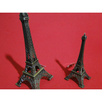 Par De Miniaturas Torre Eiffel Paris 18cm E 13cm