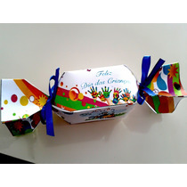 Caixa De Bala/ Bombom Personalizada- Papel Verge