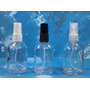 10 Frascos Vaporizador Vidro Cilíndrico 60 Ml Válvula Spray