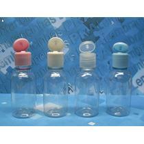50 Frascos Plástico Pet 30 Ml Cilíndrico C/tp Flip Top R18