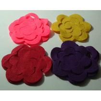Recortes Em Feltro E Meia Pérolas Para Fazer Flores Em 3d