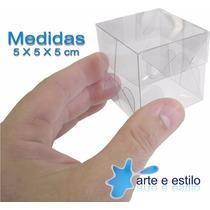Embalagem Com 50 Caixas De Acetato 5 X 5 X 5 Cm