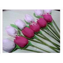 Tulipa De Tecido Mini Tulipas Aromatizadas Com Pérola