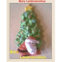 50 Unidades Lembrancinhas Árvore De Natal Com Papai Noel