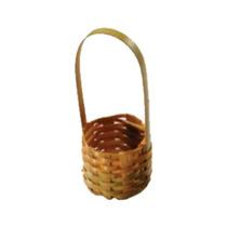10 Mini Cestinha Lembrancinha Palha Bambu Ref.1600 04x06