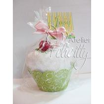 10 Cupcake De Toalha Lembrancinha Qualquer Tema Galinha Pint