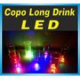 30 Copos Long Drink Led - Sem Personalização - Brindes