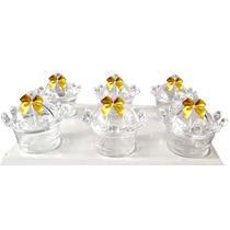 10 - Mini Cupulas Coroa - Lembrancinhas, Lançamento!