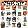 Silhouette Tema Halloween Bruxa Fantasma Abobora Moldes