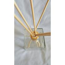 Frasco Vidro-cubo Para Aromatizador 350ml Com 6 Varetas