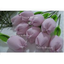 Tulipa De Tecido - Aromatizada 100% Algodão E Pérola